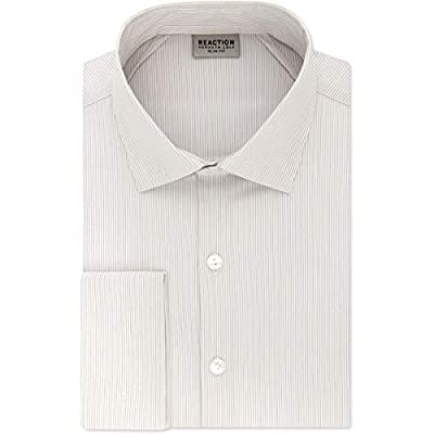 Kenneth Cole REACTION Mens Pinstriped Stretch Button-Down Shirt