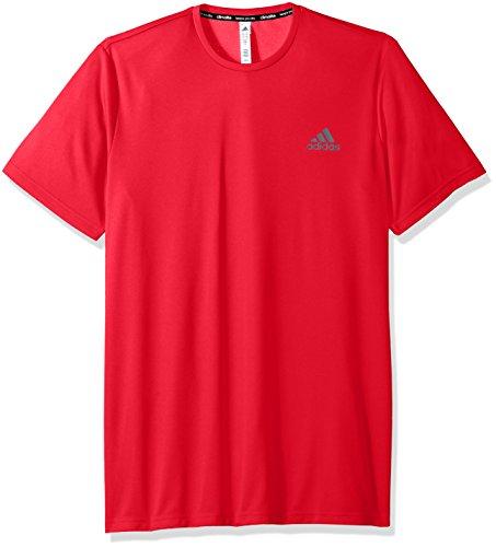 adidas Mens Essentials Tech Big & Tall Tee, Scarlet, 3X-Large Tall