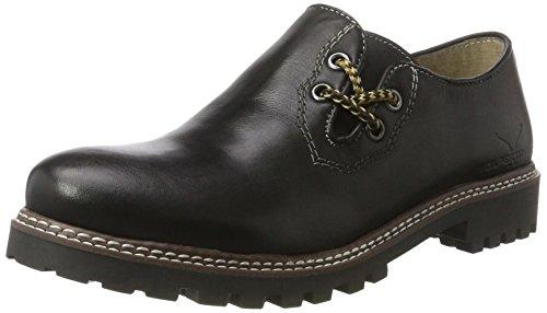 Wolpertinger Servus, Zapatos de Cordones Derby Unisex Adulto Schwarz (black nappa)