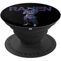 #1 Fort Builder Raven Pop Socket Player Gamer Phone Raven - PopSockets Grip and Stand for Phones and Tablets