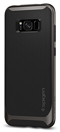 Gunmetal Frame (Spigen Neo Hybrid Galaxy S8 Case Herringbone with Flexible Inner Protection and Reinforced Hard Bumper Frame for Samsung Galaxy S8 (2017) - Gunmetal)