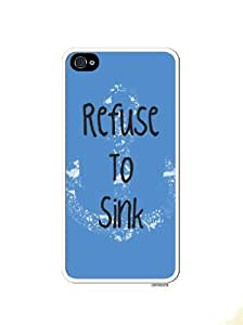Refuse To Sink Blue Navy Anchor Apple Iphone 5 Quality TPU Soft Rubber Case for Iphone 5/5s - AT&T Sprint Verizon - White Case wangjiang maoyi