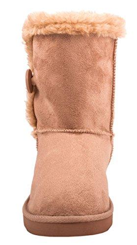 Elara - Botas plisadas Mujer Rosa