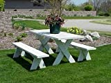 Dura-Trel Vinyl Picnic Table w/ Unattached Benches