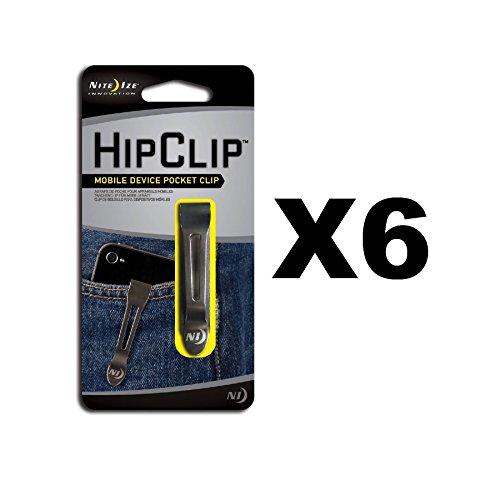 Nite Ize NBC-03-11 Hip Clip Mobile Device Pocket Clip - Quantity 6
