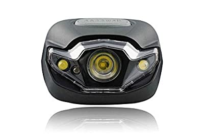 Cocoweb Ultra Bright LED Headlamp Flashlight LED Headlight - Light & Comfortable with 248% Longer Battery Life! Adjustable White, And Strobe Light Ideal for Camping, Running, Hunting, Reading, Construction and more! Water Resistant with batteries included