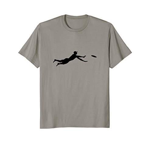 Ultimate Frisbee Layout Silhouette T-Shirt | Dive Jump Catch (Ultimate Dive)