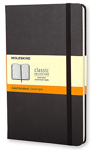Moleskine Classic Notebook, Large, Ruled, Black, Hard Cover (5 x 8.25) (Classic Notebooks)
