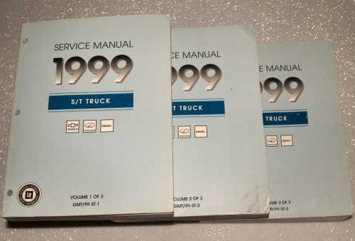 Oldsmobile Bravada Service Shop Manual (1999 GM S/T Truck Factory Service Manuals (Sonoma, Jimmy, Blazer, Bravada, 3 Volume Set))
