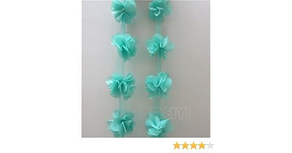 15 colores de 5 yardas 3D de gasa Cluster flores DIY encaje camisa decoración de vestido tul tela apliques costura artesanal: Amazon.es: Juguetes y juegos