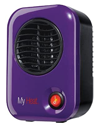 Lasko Personal Ceramic Heater, with 200 Watt of Safe Ceramic Heat, Built-In Three-Step Ceramic Safety System, Energy Smart, Purple Finish