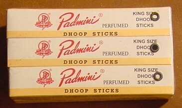 Padmini Dhoop Sticks - 12 Boxes of 10 Sticks Each - 5