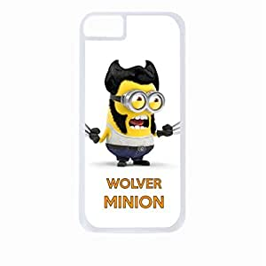 Wolver Minion- Hard White Plastic Snap - On Case-Apple Iphone 6 Only - Great Quality!