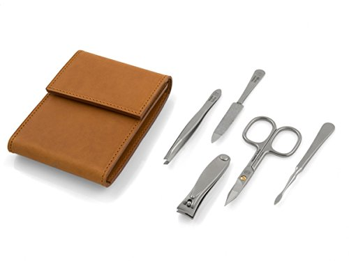 Deluxe ''Havanna L'' TopInox Stainless Steel Manicure Set for Men by Niegeloh. Made in Germany by Niegeloh