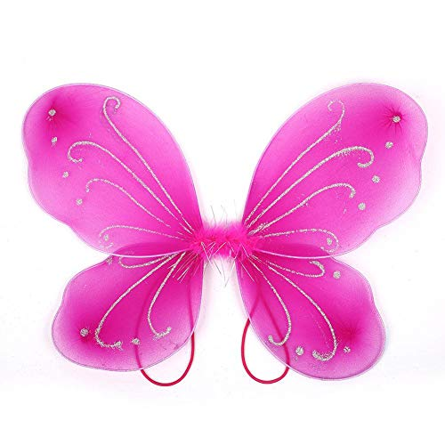 10Color Adult Gift Butterfly Wings Decor Fairy Wing Costume Dress Up Halloween Rose Red OneSize