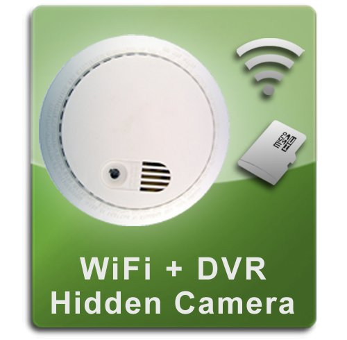 PalmVID WiFi Smoke Detector Hidden Camera Spy Camera with Live Video Viewing and Adjustable View by PalmVID