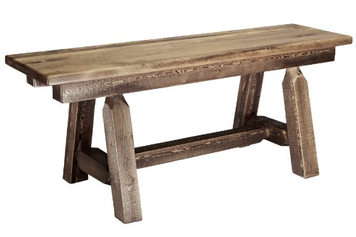 Montana Woodworks Homestead Collection Plank Style Bench, 45-Inch, Stain and Lacquer Finish
