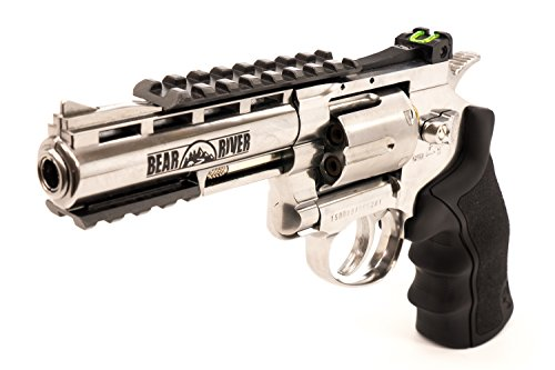 Refurbished Bear River Exterminator 4 Inch Revolver - Chrome Finish - Full Metal CO2 BB/Pellet Gun - Shooot .177 BB Cartridges Included