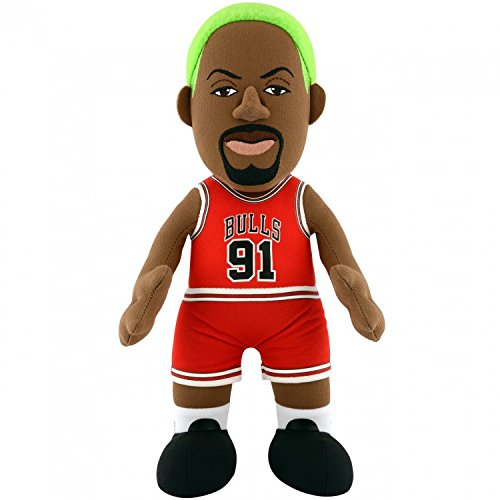 NBA Chicago Bulls Dennis Rodman Plush Figure, 10