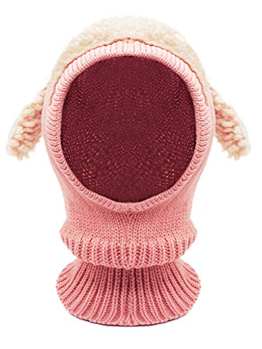 Baby Girls Boys Winter Hat Scarf Earflap Hood Scarves Skull Caps Pink One (Crochet Hat Pattern For 8 Year Old)