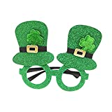 Laideyilan Green Grass Plastic Clover Glasses Cloer Hat Ball Supplies for St. Patrick's Day