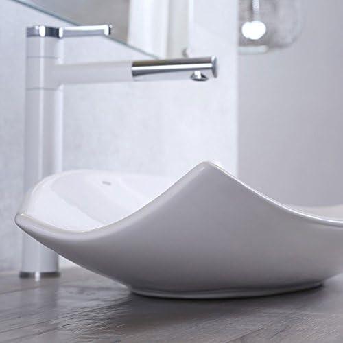 Minmin 浴室の陶磁器の洗面器 - 蛇口セット、73X37X13CMMが付いているカウンターの洗面器の洗面器のホテルの芸術の洗面器の上の陶磁器の簡単な人格陶磁器 芸術流域