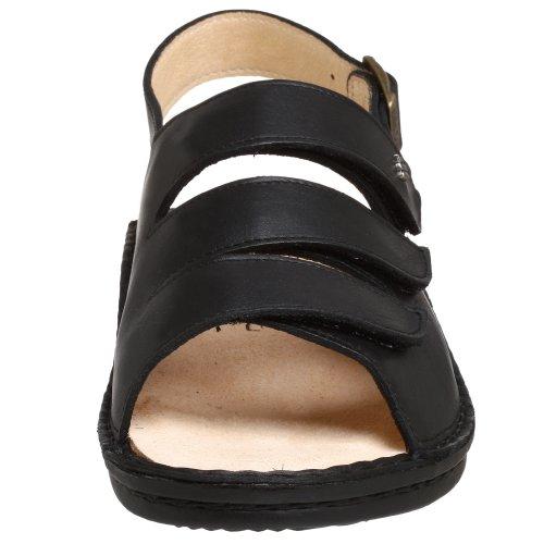 Fine Donna Comfort Sylt 82509 Sandalo Nero Nappa