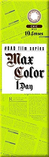 マックスカラー ワンデー バッド フィルム シリーズ 【1箱10枚入】 14.2mm カラコン MAX COLOR 1DAY BAD film series (チック/-3.00)