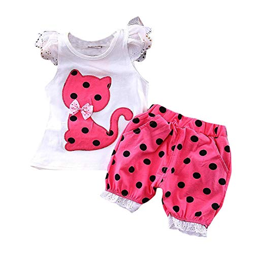 ebc1a8cc5d Mummamia Girls Kitty Applique T-Shirt & Shorts - Pink: Amazon.in: Clothing  & Accessories