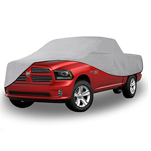 All Weather Protection Waterproof Pickup Truck Cover Universal Fit Breathable Rain Sun UV Rays Snow Dustproof Outdoor (Fit Truck up to 232