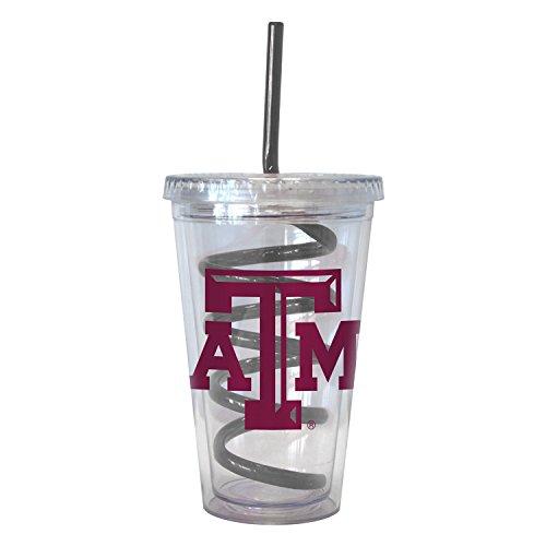 Texas A&m Aggies Tumbler (NCAA Texas A&M Aggies 16 oz Swirl Straw Tumbler with)