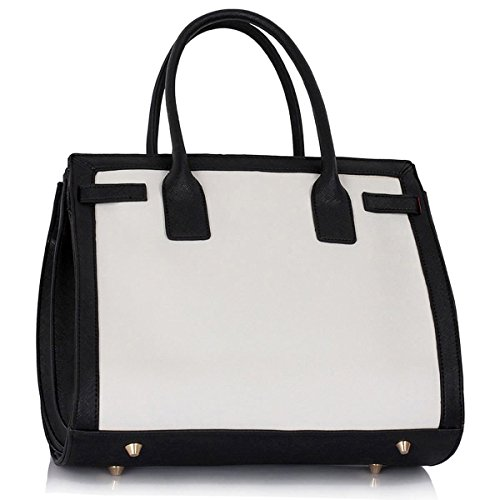 Xardi London, Borsa a spalla donna large Black/White