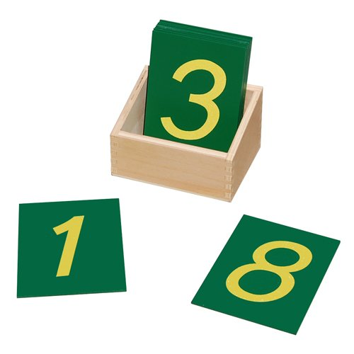 Montessori Sandpaper Numbers with Box