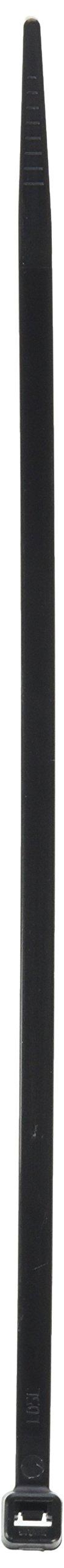 Pro Tie B8SD100 8-Inch Standard Duty Cable Tie, UV Black Nylon, 100-Pack