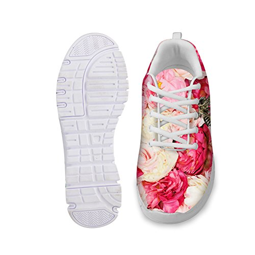 Floral Sneakers Running Womens Florals IDEA HUGS Shoes Lightweight 18 Fashion wPUxq46