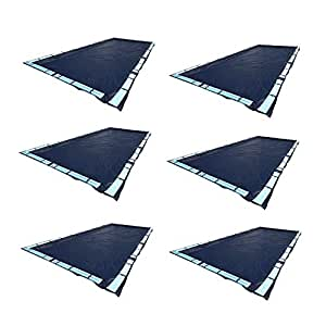 Swimline 20 x 40 Feet Dark Blue Winter Rectangular in Ground Swimming Pool Cover (6 Pack)