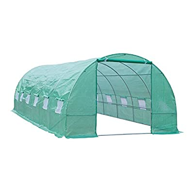 Outsunny Outdoor Portable Walk-in Tunnel Greenhouse with Windows