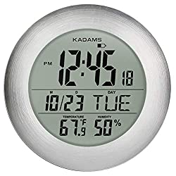 GuDoQi Bathroom Clock Shower timer Hygrometer Thermometer LCD Display Cooking Digital Wall Clock for Shower Waterproof for Water Spray Suction Cup Black Makeup