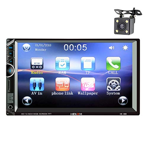 ital Display Screen Car MP5 Player Bluetooth + Reversing Camera ()