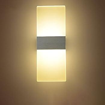 Amazon.com: Geekercity Modern Acrylic 6W LED Bedroom Wall Lamps ...