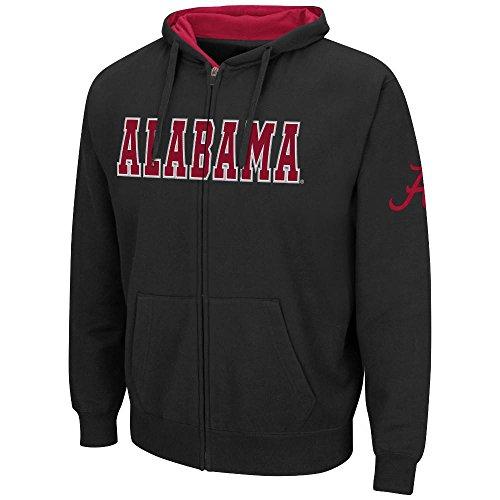 Mens NCAA Alabama Crimson Tide Full-zip Hoodie (Black) - S