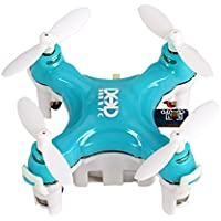 COOCHEER Voomall JJRC DHD D1 2.4G 4-Channel 6-Axis Mini Drone Headless Mode RC RTF Quadcopter Toy, Blue