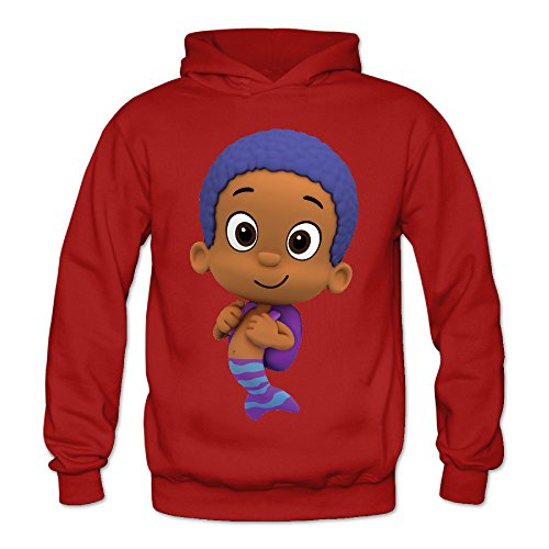 Bubble Guppies Goby Women's Long Sleeve Hoodied Red US Size L]()