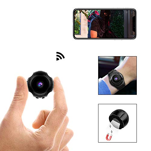 Spy Camera 1080P Video Recorder Wireless IP Mini Cameras Hidden Camera Ultra Small Camera WiFi Remote View Home Security cam Mini Security Monitoring 160°Angle Nanny Cam Night Vision Motion Dete