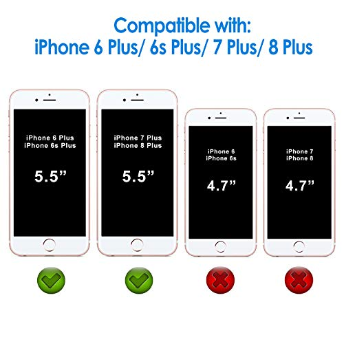 iPhone 6s Plus Screen Protector, JETech [3D Touch Compatible] Premium Tempered Glass Screen Protector for Apple iPhone 6s Plus/6 Plus 5.5 - 0810