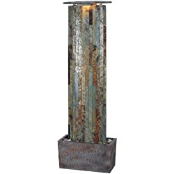 Kenroy Home #50255SL Waterwall Indoor/Outdoor Floor Fountain in Natural Slate Finish