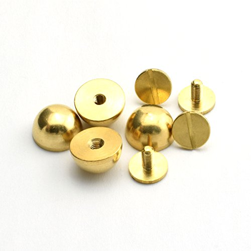 LQ Industrial 4-Pack 1//2 Purse Handbag Feet Nailhead Flat Head Stud Solid Brass Screw-Back Spike Metal Studs Rivet Leather Craft DIY Gold