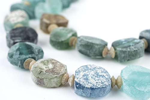 Circle Roman Glass Beads, 100% Authentic and Genuine Ancient Glass, Made in Afghanistan, Matte Glass Beads for Jewelry Making, The Bead Chest - Roman Glass Beads