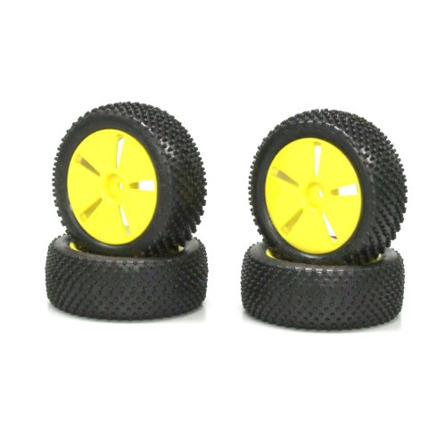Kyosho Mini Inferno Tire with Yellow Wheel