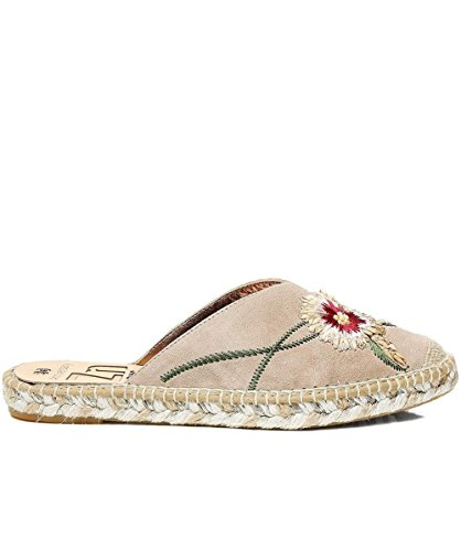 Kanna Women's Suede Dyna Espadrilles Taupe Taupe km26d